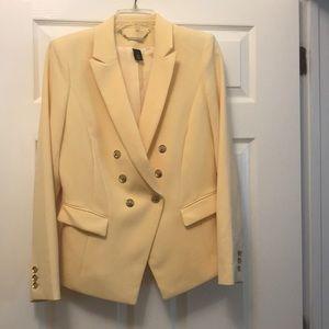 WHBM yellow blazer